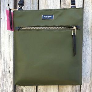 NWT Kate Spade Dawn Flat Crossbody Bag Nylon Green